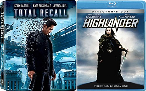 Highlander + Total Recall Steelbook (Blu-ray + DVD) Exclusive Movie Sci-Fi Fantasy Action set