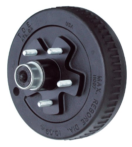 TowZone 10-Inch Brake Drum Hub for Trailers (Paint Drum Brakes)