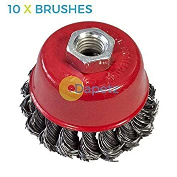 """for 4-1//2/"""" 20 Wire Cup Brush Wheel 3/"""" Angle Grinder Twist Knot 115mm 75mm"""