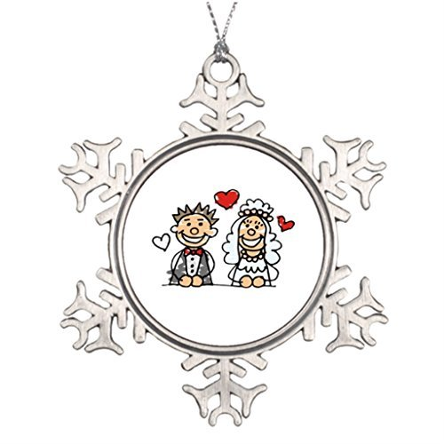 (Metal Ornaments Ideas For Decorating Christmas Trees Wedding Party Santa Snowflake Ornaments)