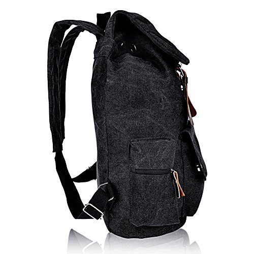 7f1798a562 Vbiger Cool Canvas Casual Backpack for Women   Girls Boys Backpacks ...