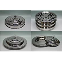 Silvertone-3 Stainless Steel Communion Trays with 1 lid and 2 Bread Tray Set