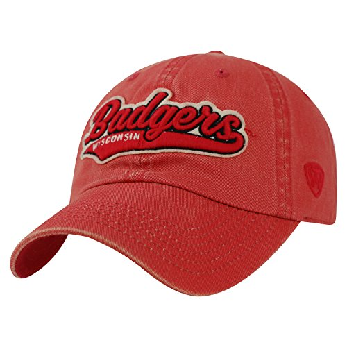 - Wisconsin Badgers Official NCAA Adjustable Park Hat Cap by Top of the World 028217