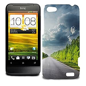Phone Case For HTC One V - Road Through Forest Glossy Lightweight wangjiang maoyi