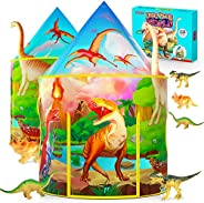 Dinosaur Kids Play Tent with Dinosaur Toys for Boys & Girls, Kids Tent for Boys, Pop Up Playhouse for Chil