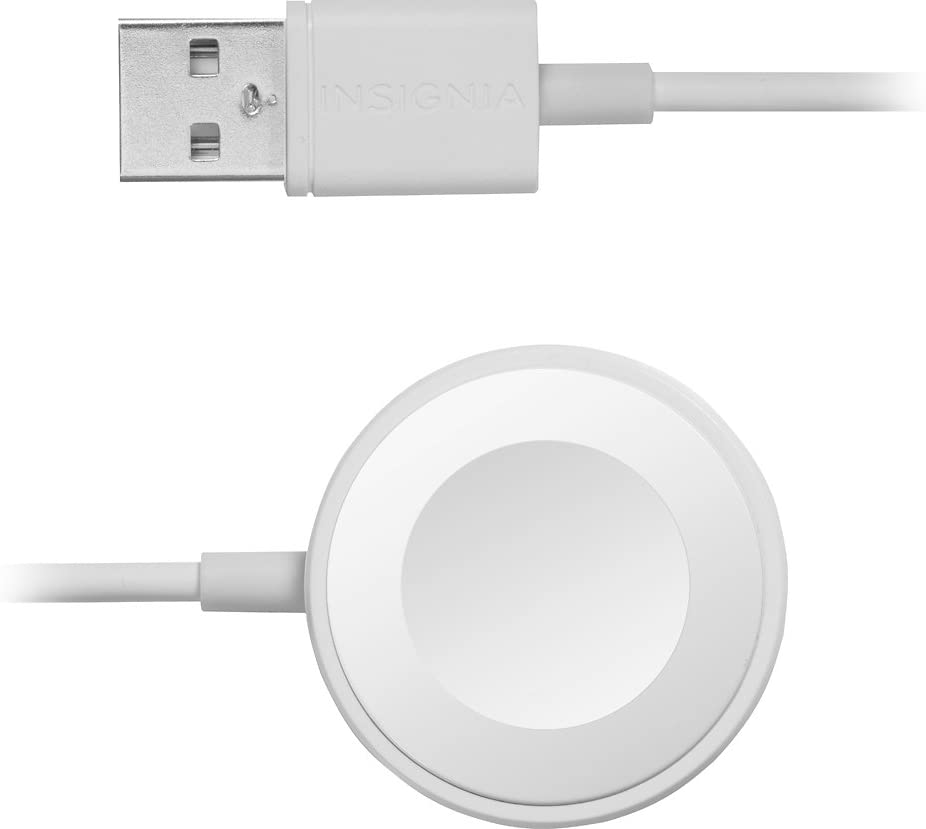 Insignia Compatible/Replacement Apple MFI Certified 4' Magnetic Charging Cable for Apple Series 1, 2, 3 & 4 Watch