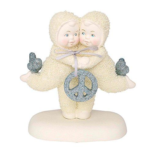 """Department 56 Snowbabies Ornaments - Department 56 Snowbabies Peace Collection """"Peace & Harmony"""" Porcelain Figurine, 5"""""""