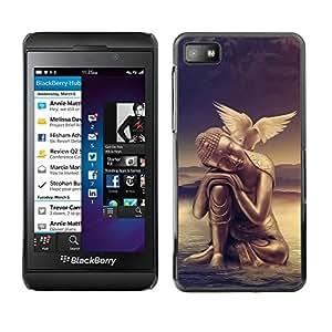 Be Good Phone Accessory // Dura Cáscara cubierta Protectora Caso Carcasa Funda de Protección para Blackberry Z10 // Peace of mind Buddha Dove