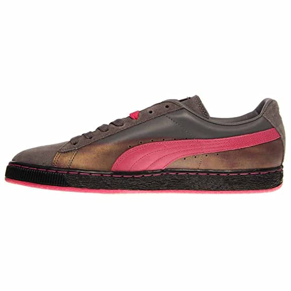 PUMA Unisex Suede Classic Steel Gray Beetroot Men's 11 Medium