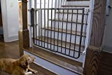 "Cardinal - Wrought Iron Decor Dog Gate - Bronze - Height: 30 1/2"" - WI-30-BZ"