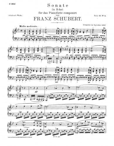 Piano Sonata No.21 in Bb major - Score