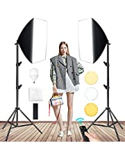 Fotografie Verlichting Led Soft Light Set Soft Light Studio Kit 85w-300w Drie-kleuren Verstelbare Led-lamphouder 50x70cm Studio Verlichtingsset Met 210cm Lichtst