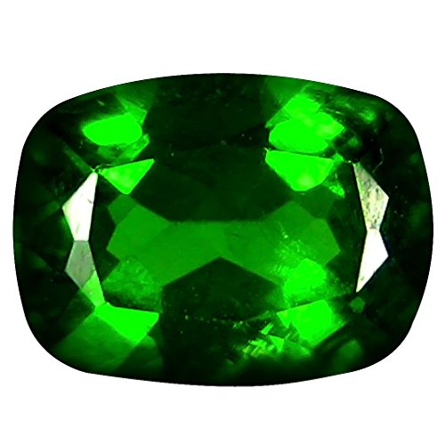 Deluxe Gems 1.38 ct Cushion Cut (8 x 6 mm) Russian Chrome Diopside Natural Loose Gemstone