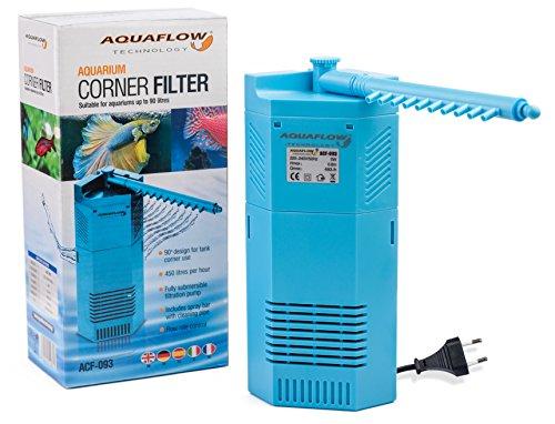Aquaflow Technology® ACF-092 - Inneneckfilter/Eckwasserpumpe für Aquarien und Fischbehälter - geeignet für Tropen- oder Salzwasserbecken