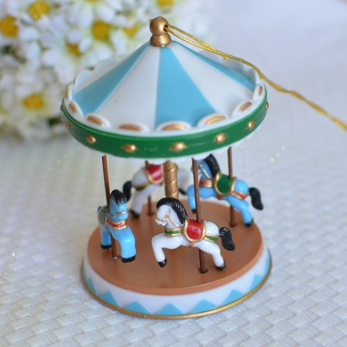 Circus-Carousel-Cake-Topper-Blue-2-Count