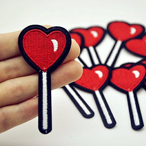 1 Candy Lollipop Heart Patch 35X70mm Lollipop Iron On Patches R017