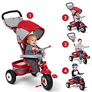 Radio Flyer Deluxe All Terrain Stroll 'N Trike Ride On, Red
