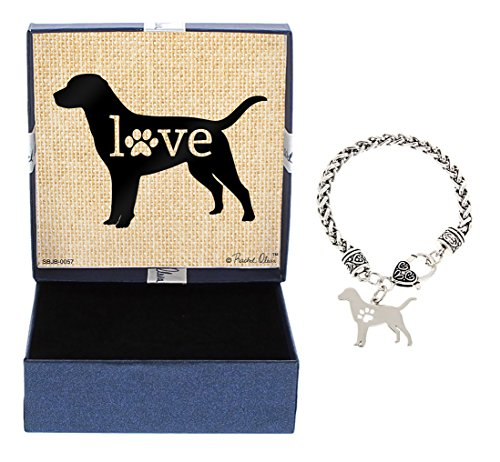 (Labrador Bracelet Gift Love Dog Breed Silhouette Charm Bracelet Silver-Tone Bracelet Gift for Labrador Owner Jewelry Box Idea for A Rescue Dog Mom)