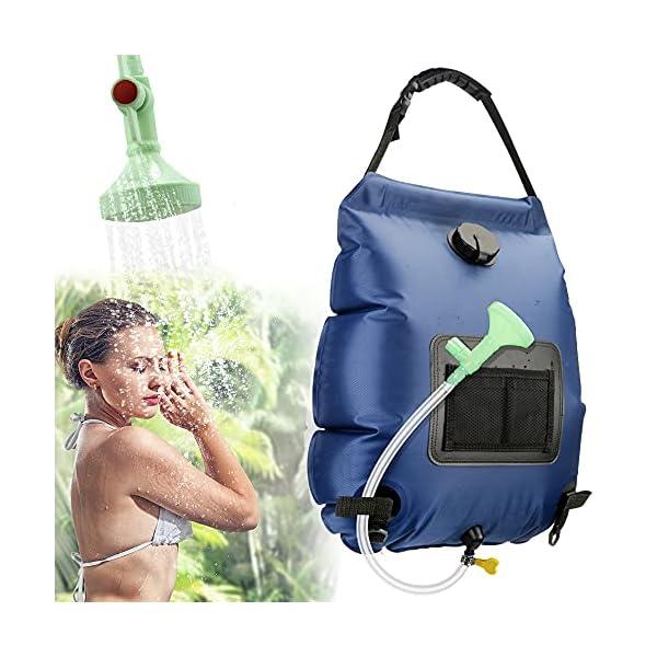 51vgCZC1KDS KIPIDA Solardusche Outdoor, 20L Campingdusche Solar Wassersack Heizung Camping Dusche Tasche mit Duschkopf Gartendusche…
