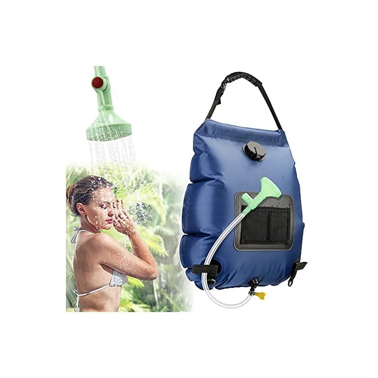 KIPIDA Solardusche Outdoor, 20L Campingdusche Solar Wassersack Heizung Camping Dusche Tasche mit Duschkopf Gartendusche…