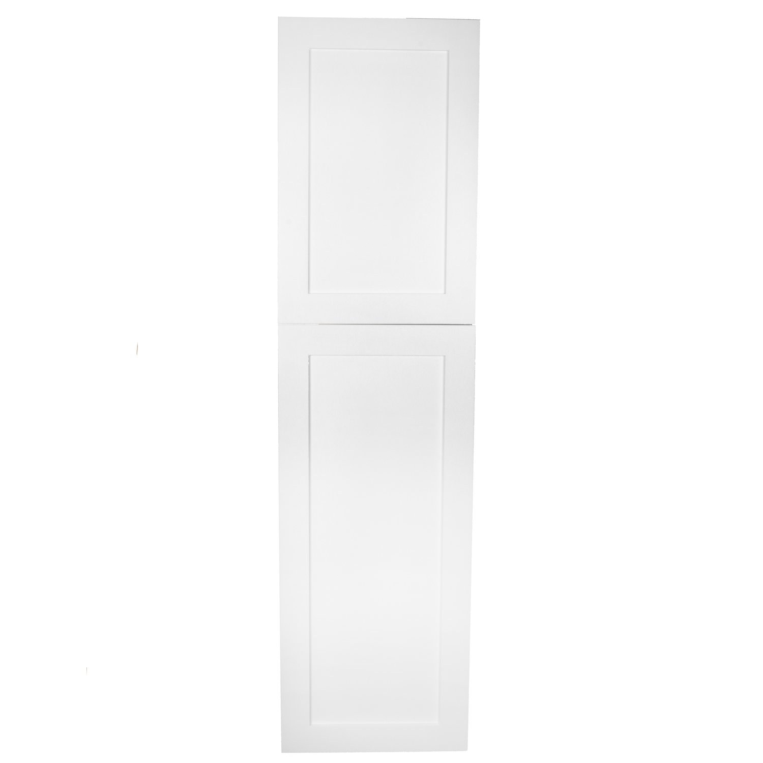 WG Wood Products Shaker Style Frameless Recessed Wall Bathroom Medicine Storage Pantry Cabinet with Multiple Finishes, 56'', White Enamel by WG Wood Products (Image #4)