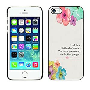 Paccase / SLIM PC / Aliminium Casa Carcasa Funda Case Cover para - Floral Flower Spring Poem Message - Apple Iphone 5 / 5S