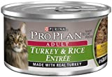 Pro Plan Canned Cat Food, Adult Turkey and Rice Entrée, 3-Ounce Cans (Pack of 24), My Pet Supplies