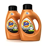 Tide Plus Febreze Freshness Sport High Efficiency Liquid Laundry Detergent - 46 oz - Active Fresh - 2 pk