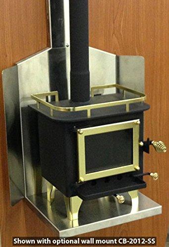 Amazon.com: Cubic Cub Mini Wood Stove   CB 1008 (Black/Brass): Home U0026  Kitchen