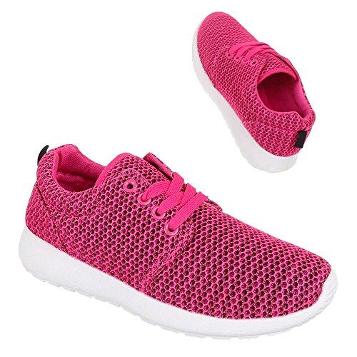 Ital-Design - Zapatillas de Material Sintético para mujer Rosa - rosa