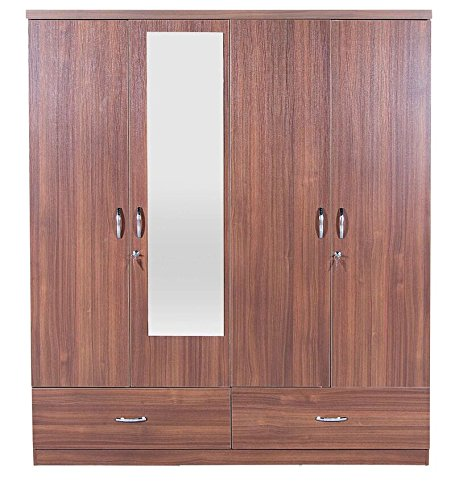 HomeTown Ultima Melamine Faced Chipboard Four Door Wardrobe