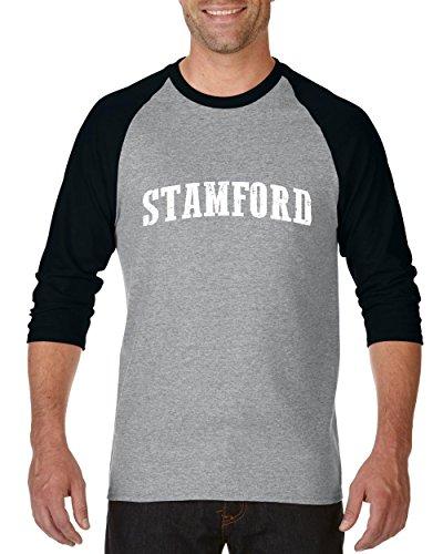 Stamford CT Connecticut Map Flag Bridgeport Home Of State University Raglan Sleeve Baseball - Connecticut Stamford Shopping