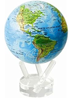 Amazon 45 silver and black metallic mova globe toys games 45 blue with relief map mova globe gumiabroncs Images