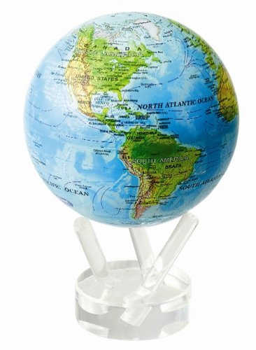 Blue Ocean Relief MOVA World Globe by Universal Lighting and Decor