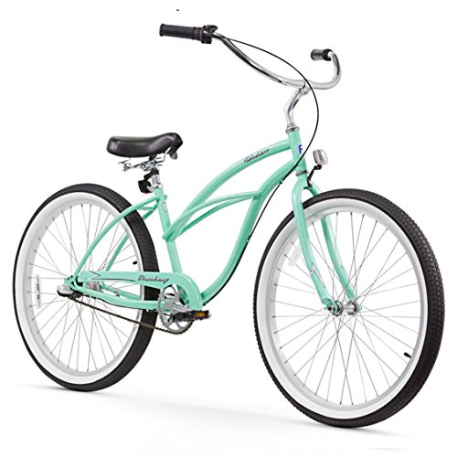 Firmstrong Urban Lady Three Speed Beach Cruiser Bicycle, 26-Inch, Mint Green