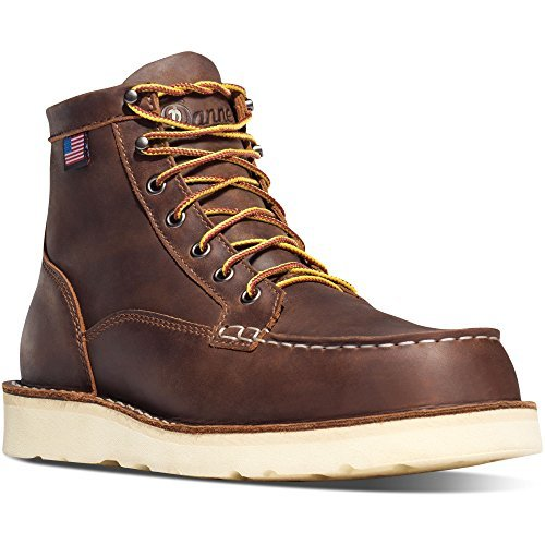 Danner Bull Run Moc Toe 6'' Brown Steel Toe Work Boots Oil & Slip Resistant  Working Leather Boots Oiled Leather Upper   Made In USA Modern Battlefield Combat Boot (11.5 D)