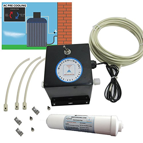 mistcooling Residential AC Pre-Cool Kit (6 Nozzles 30 Ft) by mistcooling
