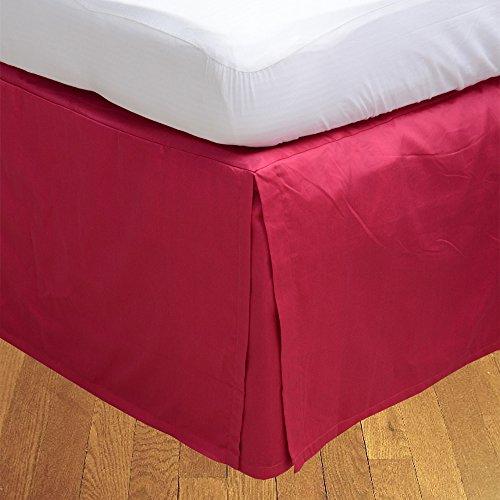 LaxLinens 250 fils cm², 100%  coton, finition élégante 1 jupe plissée de chute lit Longueur    30  - Royaume-Uni-Double-Rose