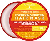 Hair Mask for Growth Fortifying Protein Hair Mask and Deep Conditioner with Argan Oil and Macadamia Oil By Arvazallia - Hair Repair Treatment for Damaged , Brittle , or Thinning Hair - Promotes Natural Hair Growth
