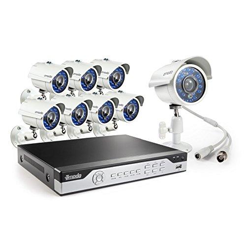 Zmodo KHI8-YARUZ8ZN-1T 8-Channel H.264 960H DVR Security System with 1 TB HD and 8 700TVL IR Cameras (White)