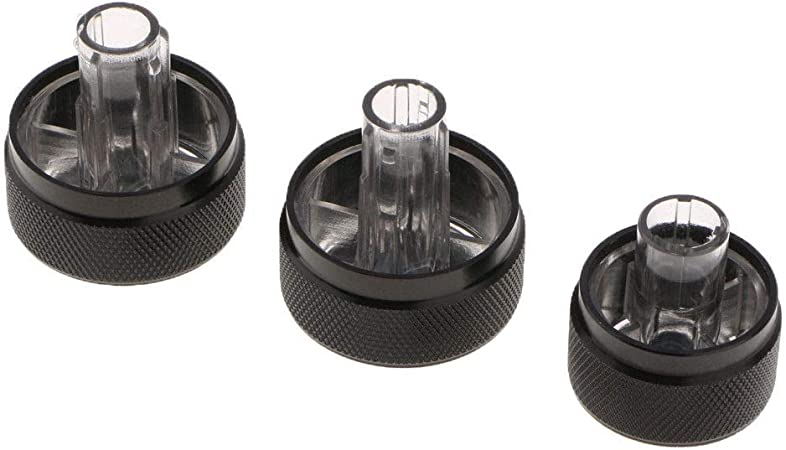 3x Perfect Black AC Climate Control Knob Replaces For Toyota Tundra 55905-0C010