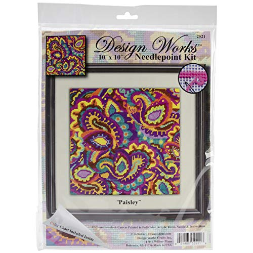 Needlepoint Brown Paisley (Tobin Jacquard 103104 iDye Fabric Dye 14 Grams-Brown)