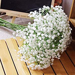 Zhahender Decorative Ornaments Quality1st-2017 Silk Artificial Baby Breath Gypsophila Flower Wedding Home Decor Gift (10pcs) 107