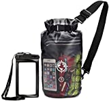 Earth Pak Dry Bag and Waterproof Phone Case – 10L / 20L – Transparent So You Can See Your Gear – Keep Your Stuff Safe and Secure While Kayaking, Camping, Boating, Fishing, Hunting