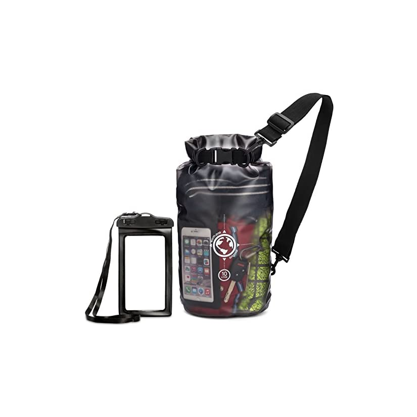 238297a36370 Earth Pak Dry Bag and Waterproof Phone Case - 10L   20L - Transparent So  You Can See Your Gear - Keep Your Stuff Safe and Secure While Kayaking