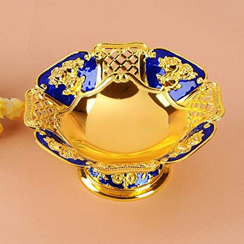 MAGA 1 Luxury Metal Snack Plate KTV Hotel Dry Fruit Tray Fashion Food Candy Nu Bowl Dish Europe Style Bar Club Home Plate ()