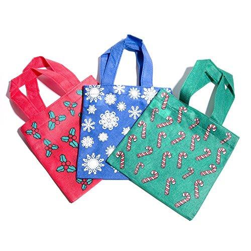 12 Small Christmas Tote Bags