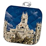 3dRose Cybele Palace in Madrid, Spain Potholder, 8 x 8''