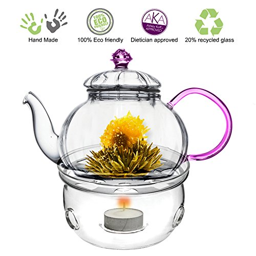 Tea Beyond Teapot Juliet with Tea Warmer Cozy (Tea Pot With Candle Warmer compare prices)