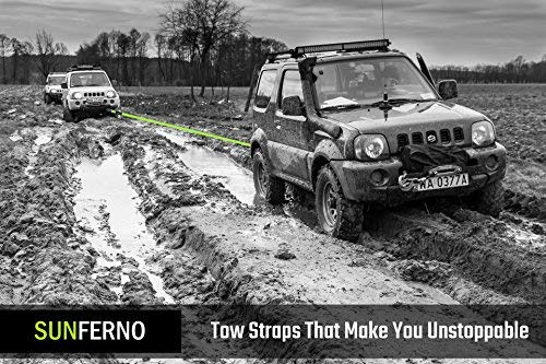 Bonus Storage Bag Recover Your Vehicle Stuck in Mud//Snow Ultimate Tow Recovery Strap 35000lb Water-Resistant Heavy Duty 3 x 20 Winch Snatch Strap Protective Loops Off Road Truck Accessory